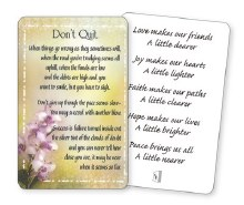 Don't Quit Wallet Card