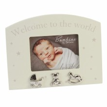 Welcome To The World Cream Frame