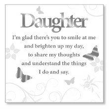 White Daughter Art Plaque