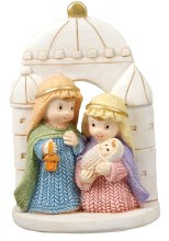 Woven Holy Family Scene (8cm) Christmas Decoration
