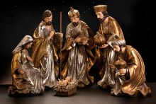 Gold and Silver Large Nativity Set (75cm)
