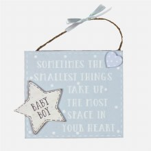Blue Petit The Littlest Things Plaque