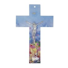 Enchanted Landscape Murano Glass Crucifix