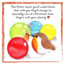 CR006 Family Christmas Robin Card