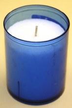 24-HR Blue Devotional Votive Candle 0928
