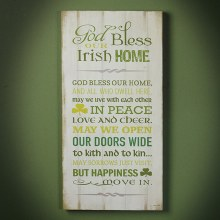 Irish Home Blessing Plaque