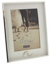 "Amore by Juliana Photo Frame - Border Box Frame with Rings - 5""x7"""