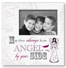 Angel By Your Side Art Deco Wood Photo Frame