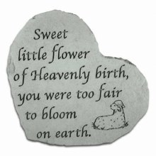 8505 Sweet Little Flower Heart Memorial Stone
