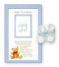 Blue Baby Booties Boxed