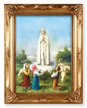 Gold Framed Print of Fatima (24 x 19cm)