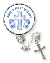 Baby Boys First Rosary in Gift Box