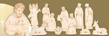 Resin nativity set with 11 figures