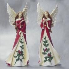20604  Christmas Angel with Bird 36cm