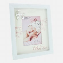 Baby Girl White Frame with Silver Icon