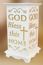 Bless This Home LED Wood Lantern