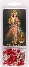 Divine Mercy Rosary Beads with Leaflet