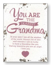Dearest Grandma Wood Plaque