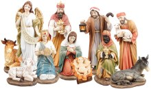 Traditional Outdoor Nativity Scene 11 Figures