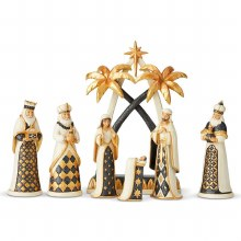 Heartwood Creek Let us Adore Him Nativity Scene (27.5cm)