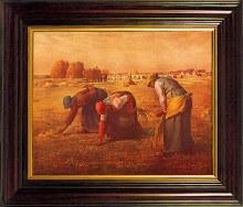 Gleaners Mahagony Framed Print (35 x 45cm)