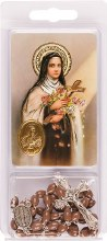 St. Theresa Rosary Beads and Leaflet