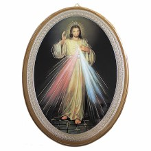 Divine Mercy Oval Icon (30 x 22cm)
