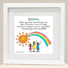 RB7 Someone Rainbows Framed Print