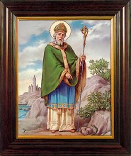 St Patrick Wood Framed Picture (26 x 21cm)