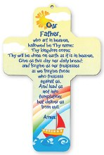 Our Father Prayer Wood Cross (18cm)