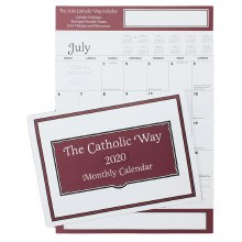 2020 Catholic Way Calendar, wall calendar