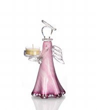 Pink Angel Tea Light Holder