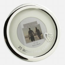 Silver Plated 25th Wedding Anniversary Photoframe