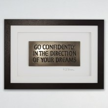 """""""Go Confidently in the Direction of your Dreams"""" Wall Hanging Frame - Wild Goose Art"""