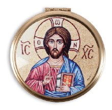 Gilt Pyx Teaching Christ (12 - 15 hosts)