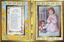 Girl Night Prayer Glass Plaque