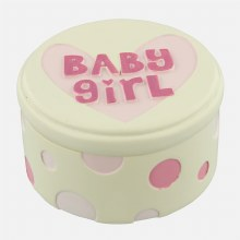 Baby Girl Trinket Box