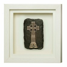 High Cross Framed Bronze Plaque