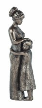 'A Mothers Love' wonderful cold cast bronze sculpture