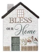 38241 Bless Our Home Porcelain Plaque 20 x 15 cm