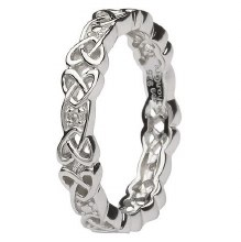 Sterling Silver Diamond Set Celtic Ring