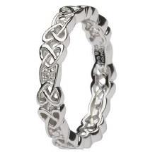 Sterling Silver Diamond Set Celtic Ring