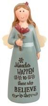 39537 Miracles Happen Message Angel 10cm