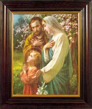 Holy Family Framed Picture (26cm x 21cm)