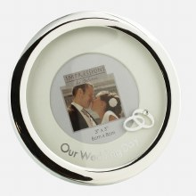 Silverplated Round Wedding Frame