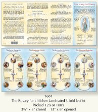How To say The rosary Leaflet