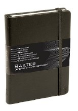 Baxter Notebook Black elastic strap blank book
