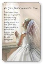 Girl First Holy Communion Prayercard