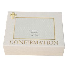 Confirmation Keepsake Box with Gold Cross