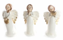 8917 Cream Porcelain Angel 15cm